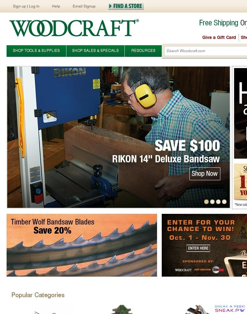 Woodcraft Supply LLC - Our Sponsors - The Patriot Woodworker